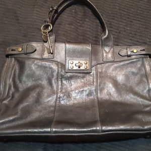 Chocolate Brown Fossil Bag